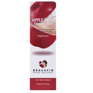 Tẩy tế bào chết từ táo đỏ Apple Beauskin Hàn quốc 150ml Hộp Và Mặt Nạ CollgenISK Beauskin 23ml Gói-1