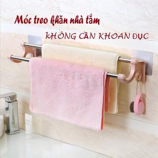 Giá treo khăn nhà tắm- Giá treo khăn đa năng 2 tầng dán tường không khoan đục