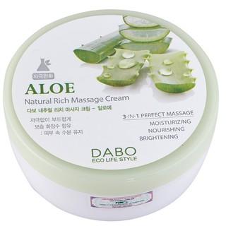 Kem mát xa masage da mặt DABO Natural Rich Massage Cream Aloe 200ml thumbnail