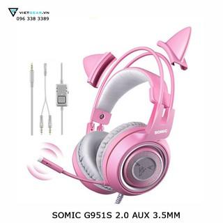 Tai nghe Somic G951s Pink Edition, dùng được cho điện thoại