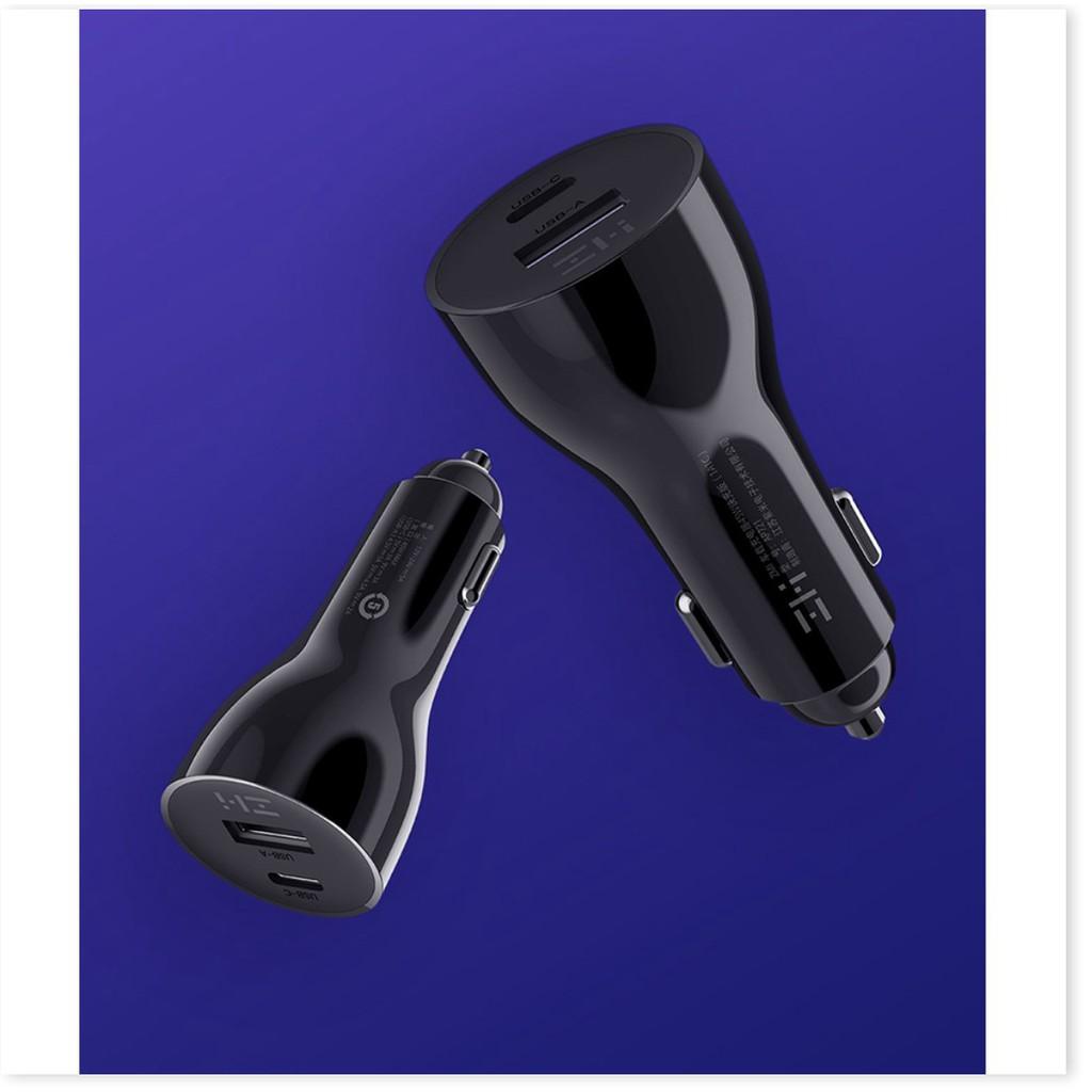 Sạc Ô Tô Nhanh 2 cổng USB 45W Xiaomi ZMI AP721 - Tẩu sạc xe hơi nhanh 45w Xiaomi 2 USB ZMI AP721  - ChuyenMi