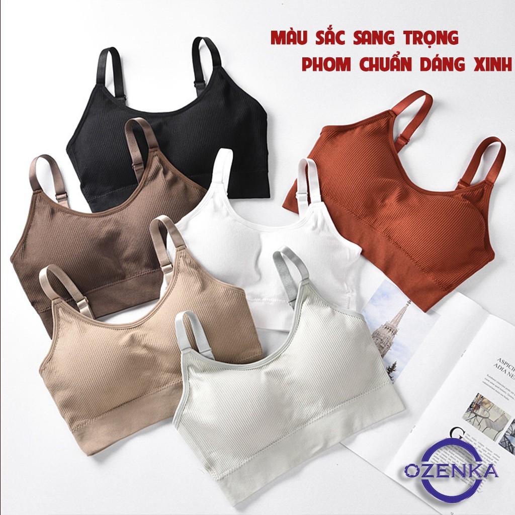 Áo bra tập gym đẹp, áo lót nâng ngực mặc kèm croptop có dây điều chỉnh được FATE 259