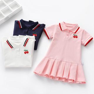 Váy polo tay ngắn kiểu dáng hợp thời trang dùng cho bé gái