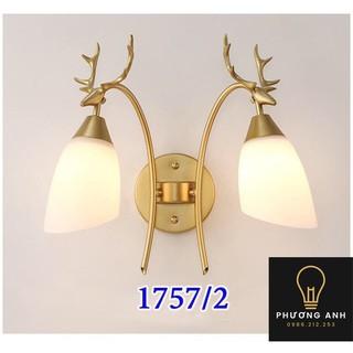 Đèn LED hai bóng Gắn Tường 1757/2 Hươu Vàng Trang Trí Phòng Ngủ, Hành Lang Và Cầu Thang hiện đại – Đèn Phương Anh