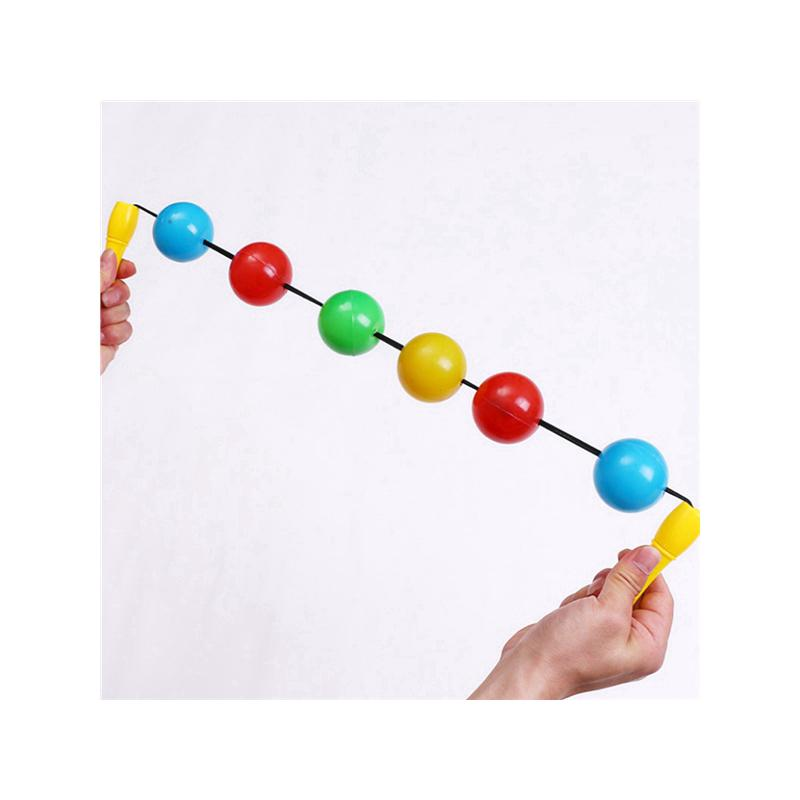 Kids 53CM Color Beads Outdoor Ball Game Elastic Beads Infant Children's Toys