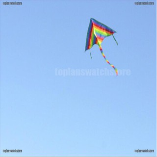 【COD•tope】Fashion 1m Rainbow Delta Kite outdoor sports for kids Toys easy to f