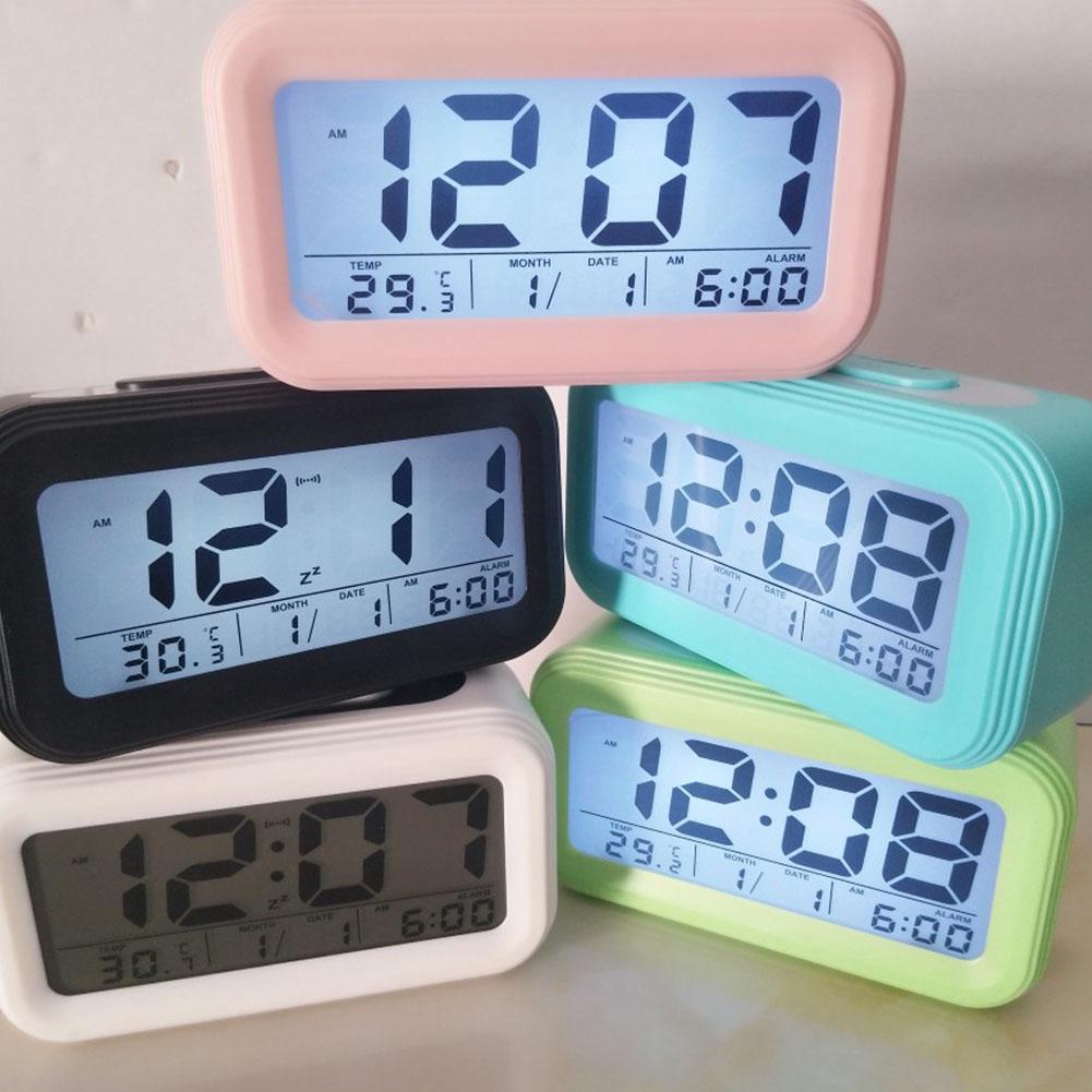 Temperature Desktop Alarm Clock Portable LED Display