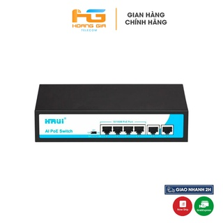 Bộ chia mạng (Switch) Poe Hrui HR900-AF-42N 4port POE + 2 Uplink thumbnail