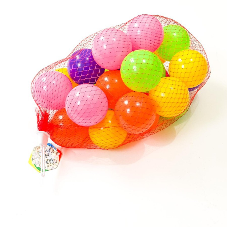 Set 25 quả bóng nhựa nhiều màu cho bé chơi khi tắm