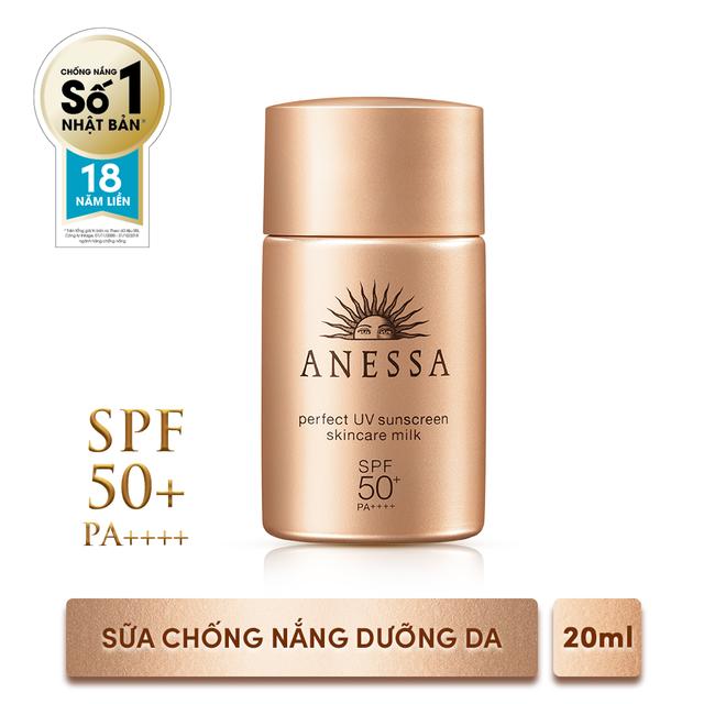 Bộ đôi chống nắng bảo vệ hoàn hảo Anessa Perfect UV Sunscreen Skincare Milk (60ml + 20ml)_95563E