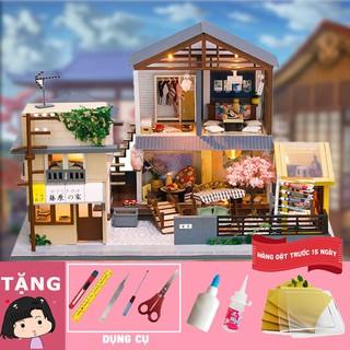Mô hình nhà gỗ tự ráp Phố nhỏ Nhật bản