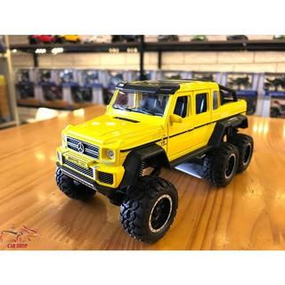 Xe mô hình hợp kim Mercedes-Benz G63 NEWAO ALLOY màu vàng hàng Quảng Châu