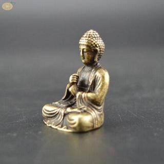 Shakyamuni Chinese Buddhism Pure Copper Bronze Figurine Home Office Table Cars Decorative Accessories Buddha Statue