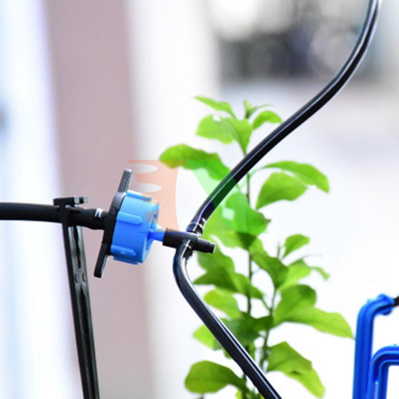 Bộ 100 Đầu tưới nhỏ giọt bù áp 2l. 4l, 8l, Béc tưới nhỏ giọt cho cây trồng, Béc tưới cây tự động + đục lỗ mini