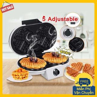 Máy làm bánh Waffle - Máy làm bánh bông lan đôi Sokany thumbnail