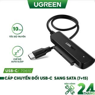 Cáp chuyển đổi hai loại USB 3.0 và USB type C sang Sata (7+15) cho ổ cứng ngoài SSD, HDD 2.5 inch, dài 50cm UGREEN CM321 thumbnail