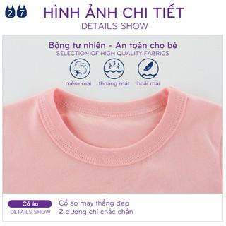 Áo thun bé gái 27HOME áo thun cho bé in hình vui nhộn