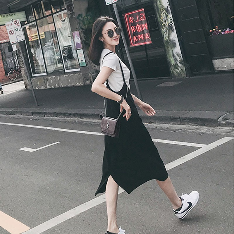 Net red playful two-piece niche foreign summer dress student fashion strap suit