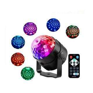 Đèn LED 7 màu vũ trường cảm ứng nhạc, xoay 7 màu sân khấu chớp theo nhạc, nháy theo nhạc