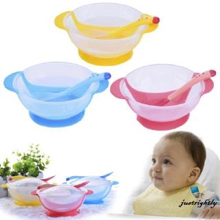 Jry₪Baby Kids Feeding Training Bowl +Spoon Suction Tableware Set