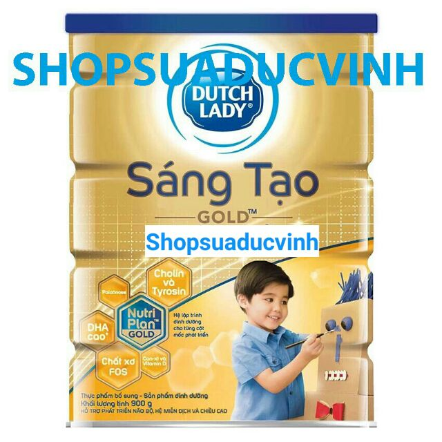 Sữa bột Dutch Lady Sáng tạo Gold 900g