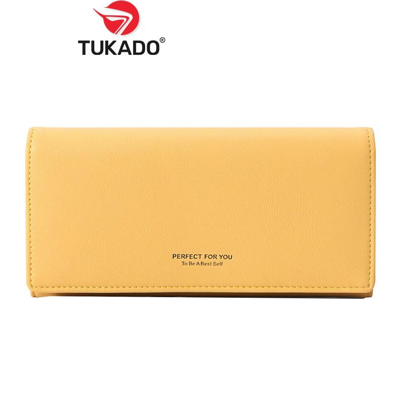 Ví Bóp Nữ Dài Cầm Tay 𝐏𝐄𝐑𝐅𝐄𝐂𝐓 𝐅𝐎𝐑 𝐘𝐎𝐔 Chất Da Cao Cấp Kiểu Dáng Vintage Cực Đẹp PFY03 - Tukado