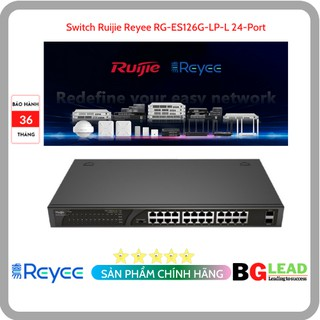 Thiết bị mạng Switch Ruijie Reyee RG-ES126G-LP-L 24-Port Gigabit Unmanaged Switch thumbnail
