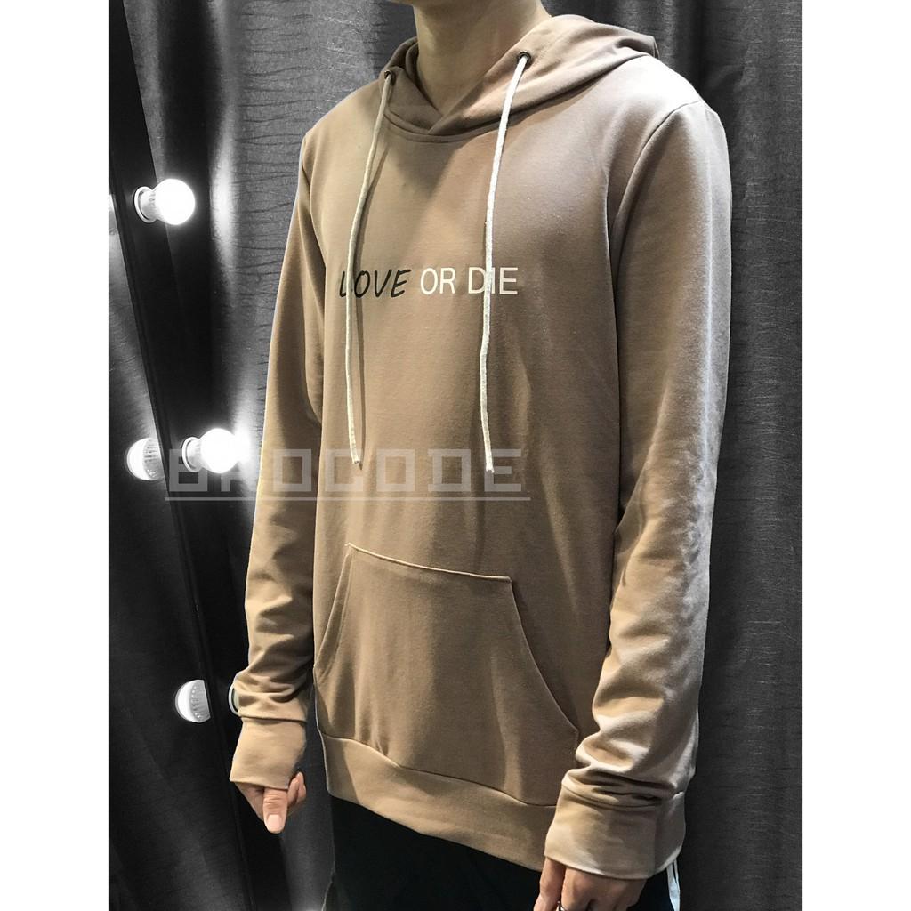Áo hoodie và áo váy Love Or Die hàng thiết kế