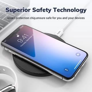 Đế Sạc Nhanh Không Dây TOPK B01 10W Dùng Cho iPhone Xs Max X 8 Plus Samsung Note 9 Note 8 S10