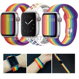 Dây đeo màu sắc cầu vồng thay thế cho dây đeo đồng hồ Apple 38/40mm 42/44mm iWatch Series SE 6/5/4/3/2/1