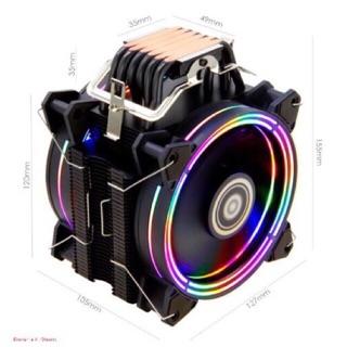 Tản khí CPU hãng ALSEYE H120D với 6 ống đồng 2 fan LED cao cấp