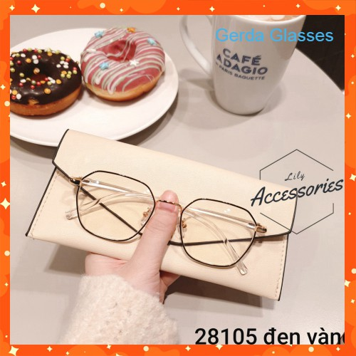 Gọng kính mắt lục giác cận kim loại Hàn Quốc mã 2810