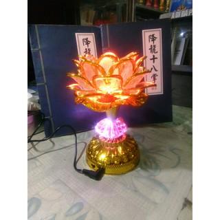 Đèn hoa sen đổi màu có kèm tiếng niệm Phật (8 bài niệm Phật)