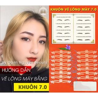 Khuôn Vẽ Lông Mày Phun Xăm Chuyên Nghiệp 7.0 (Có video hướng dẫn chi tiết)