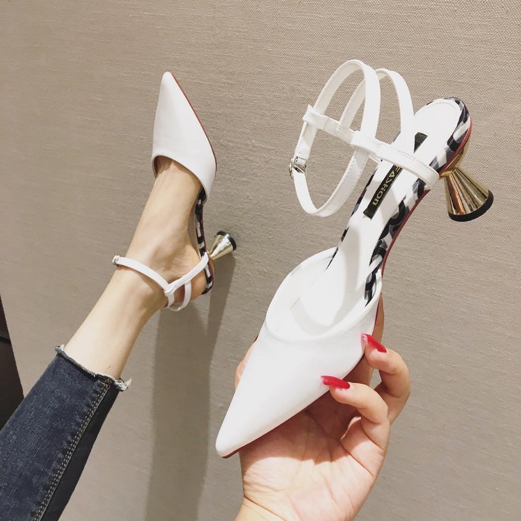 D171- giày cao gót nữ mũi nhọn thời trang đế 5p