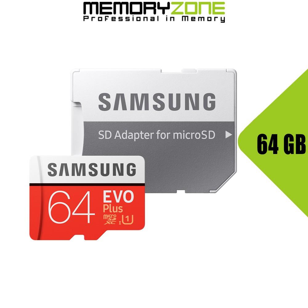 Thẻ Nhớ MicroSDXC Samsung EVO Plus U1 64GB 100MB/s MB-MC64H
