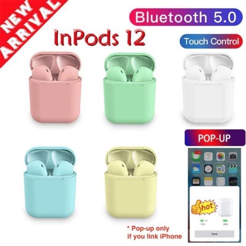 Tai Nghe Bluetooth 5.0 I12 Tws Màu Sắc Thời Trang Và Phụ Kiện