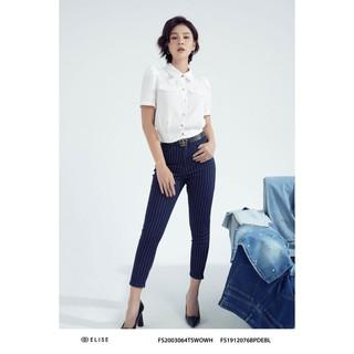 Quần jeans xanh kẻ thiết kế Elise thumbnail