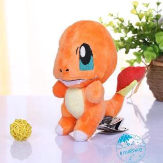 ☀Sun❤Hot Pokemon 6in Charmander Plush Toy Stuffed Animal Fire Dragon Doll Cute Teddy