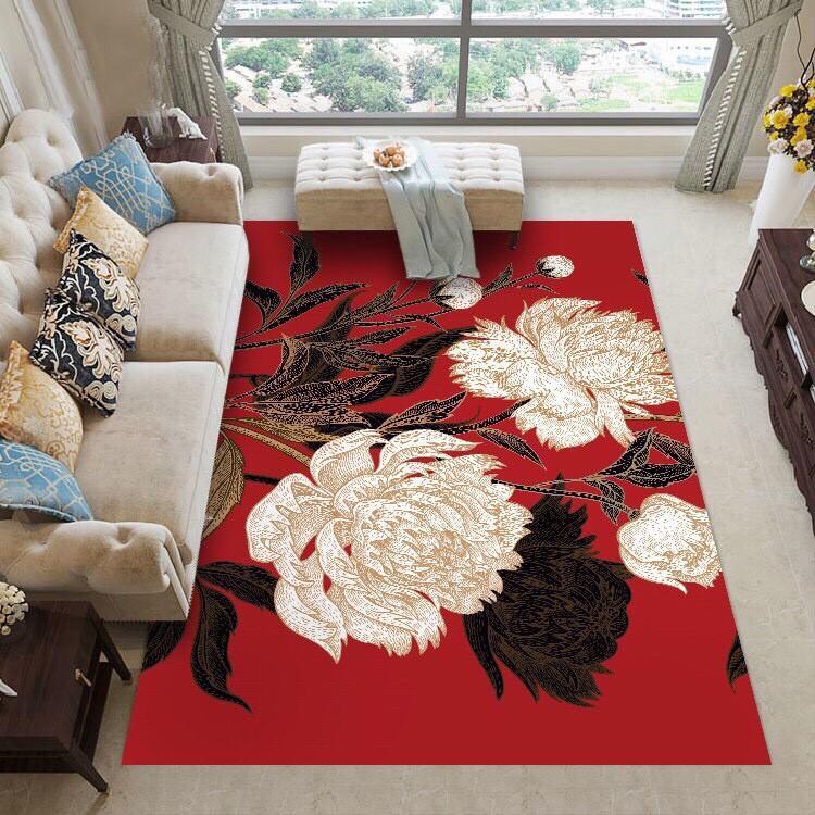 Thảm trải sàn nỉ lì Bali 5D trang trí phòng khách- phòng ngủ cỡ 1m6x2m3 và 2mx3m