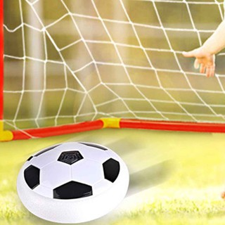 LED Light Music Flashing Soccer Ball Toys Colorful Air Power Soccer Disc Indoo