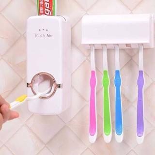 Dụng cụ nhả kem đánh răng tự động touch me kèm khay đựng bàn chải