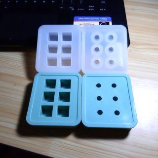 Khuôn resin làm trang sức hình cầu và lập phương bằng silicon