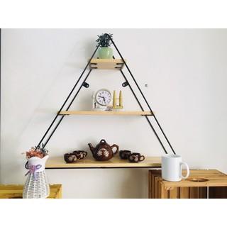 Kệ treo tường khung sắt hình tam giác  Kệ tam giác treo tường  Kệ decor tam giác HPKTT 25