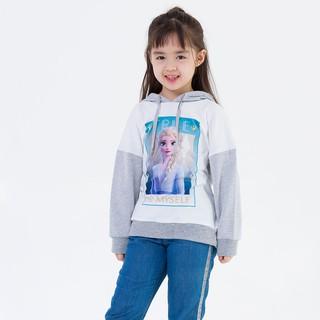 Áo thun kiểu hoodie Elsa bé gái Rabity 5309