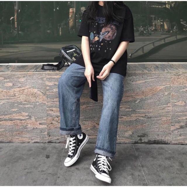 quần jean simple nam nữ v2 ống rộng | WebRaoVat