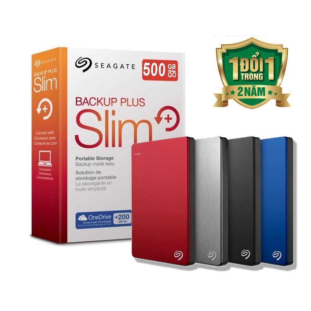 [Mã 267ELSALE hoàn 7% đơn 300K] Ổ cứng di động Seagate 500gb Backup Plus Slim