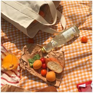 Thảm picnic dã ngoại, vải nền chụp ảnh flatlay chất vải canvas – Winsum