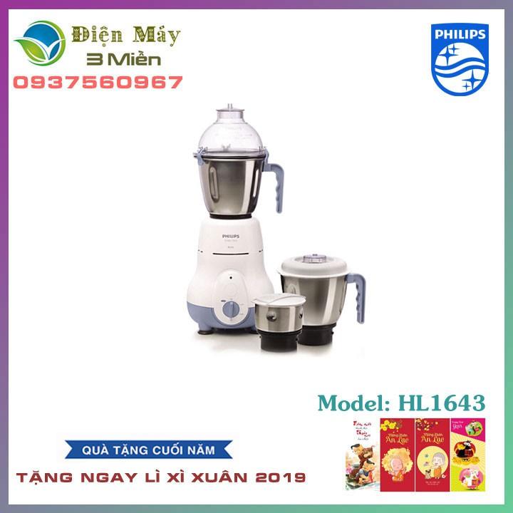 (Giá Tốt Mỗi Ngày) Máy Xay Đa Năng Philips HL1643 - Chính Hãng