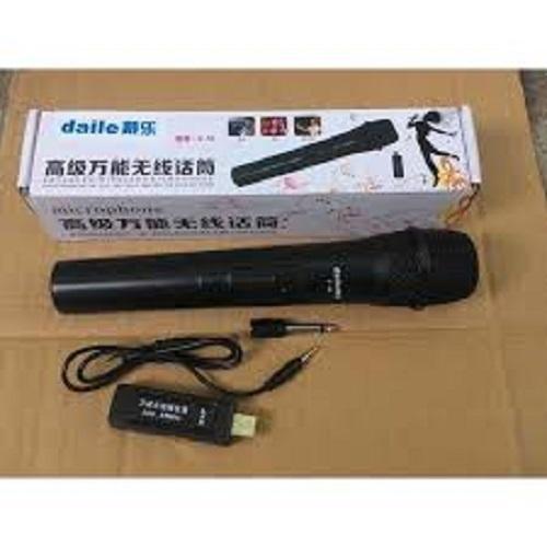 Micro Karaoke không dây cho loa kéo Daile V10 (đen) - Hỗ trợ các thiết bị có jack cắm 3.5mm và 6.5mm